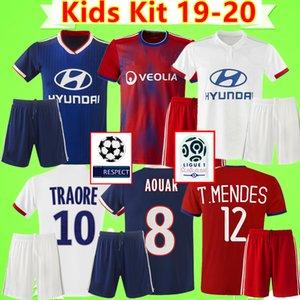 Olympique Lyonnais lyon Kinder-Kit Maillot de foot Dembélé AOUAR Fußball Jerseys 2019 2020 Jungen entsprechen Fußballhemden TRAORE MEMPHIS 19 20 Kind gesetzt Camiseta de fútbol