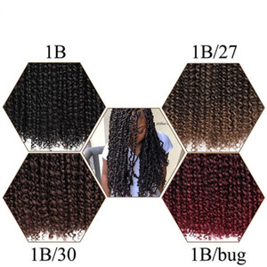 WATER WAVE Spring twist marley hair synthetic crochet braids Freetress hair with water weave curly in pre twist 18inch Free tress Hair Bulks