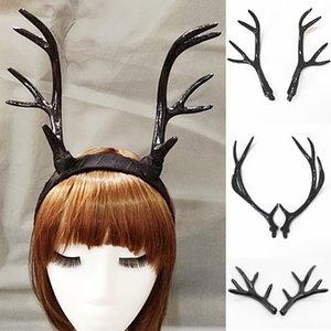 Simulación Blanco / Negro Cuerno tocado bricolaje Accesorios Material de la venda linda decoración de Navidad de la foto fotografía apoya