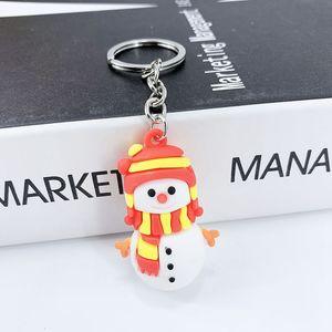 Weihnachten Schlüsselanhänger Schneemann Sankt Elk Baum-Form-Cartoon Keychain Beutel-Schlüssel-hängende Anhänger Weihnachtsgeschenk HHA953