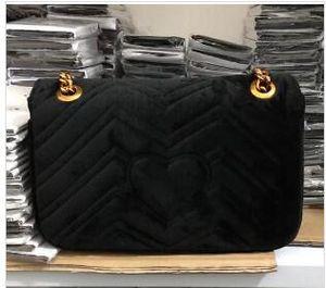 Shiopping gratuit 2019 Mode chaîne sacs à main en or célèbre sac de fête de luxe Marmont sac à bandoulière en velours Womendesigner sacs
