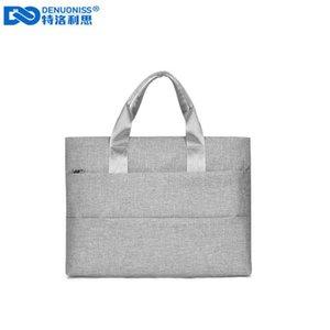 DENUONISS Mulher Briefcase Computer Bag Terremoto Proteção Liner Laptop Bag Men Bussiness Notebook