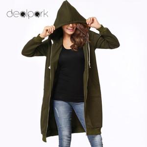 Sweats à capuche pour femmes Sweatshirts longs à capuche Tops femmes Sweat-shirt 5XL Plus Taille Manteau Casual Poches Casual Poches à glissière Vêtements de Vêtements de dessus solides surdimensionnés surdimensionnés