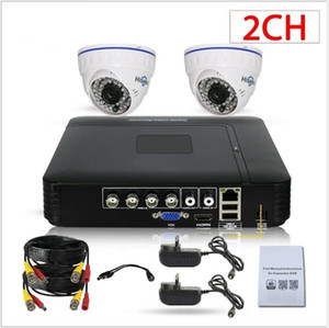 Camera Security Systems 4CH 1080P Lite H.264 + DVR pré-instalado e 1080P intempéries CCTV Dome Câmeras de Alerta e-mail