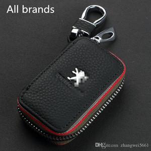 Новый роскошный натуральная кожа ключа автомобиля сумка держатели с брелок для Mazda / Honda / TOYOTA / Benz / Audi / VW / Lexus / BMW / Peugeot Buick Auto Key