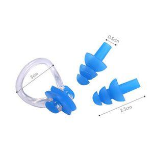 Новые плавательные очки прилагаются затычки для ушей анти-туман УФ-защита мужчины дети плавать Googles Цян