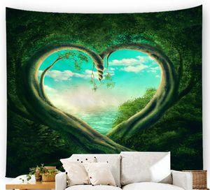 la moda cortina de ducha Impresión digital tapiz simplicidad sueño moderno Bosque tapiz de impresión cuento mundo Toalla de playa transfronteriza