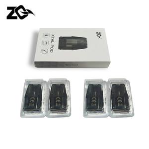 4 pcs/PACK ZQ Xtal Pod 1, 8 ml with Ni-chrome coil 1.2 ohm for ZQ Xtal Vape Pod System Kit PK Caliburn Pod