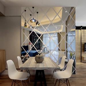 Diy 3d مرآة ملصقات الحائط الاكريليك الفن غرفة نوم غرفة المعيشة ديكور المنزل الشارات جدارية اللوحة القابل للإزالة جدار مرآة الإبداعية الحديثة