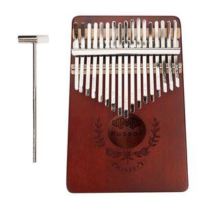 17 Key Kalimba Thumb Piano Finger Mbira Solid Musical Instrument