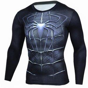 Новые длинным рукавом Спортивные рубашки Мужчины Quick Dry Мужская Бег Tshirts Саке Gym Одежда Фитнес Tp Mens Rashgard футбол Джерси
