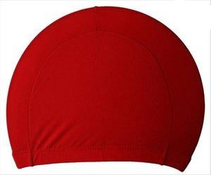 Мужские конфеты цвет плавание шапки унисекс ткани нейлона для взрослых шапочка для душа водонепроницаемый купальные шапочки сплошной шляпа плавать LJJA3841