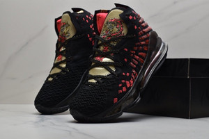 Lebron sapatos 17 VII QS Dragão LeBrons sapatos 17s 2.020 homens de basquete nova chegada Designer Sneakers Esportes sapato Trainers com caixa original