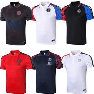 París Mbappé Momentum polo del fútbol jerseys 2020 21 formación camisa Top Verratti SARABIA T SILVA MARIA DI Marquinhos Hombres fútbol