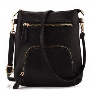 디자인 작은 세로 프런트 포켓 슬림 여성 가죽 Crossbody 가방 지갑 미니 어깨 메신저 가방 핸드백