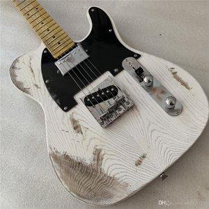 Free отгрузки пикапа пережиток коллекционер наследия возраст хром аппаратного белый тело электрогитара Guitarra Строка через тело