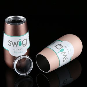 Vente en gros Swig Thermo Cup en acier inoxydable de Swig isolé Verre à vin Swig Tasse de bière de Noël à vide Fioles