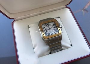 De calidad superior 100 XL 42mm Auto Men 18kt Oro amarillo Acero Acero inoxidable Reloj W200728G Reloj de hombre