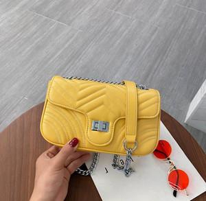 Donne Arcobaleno nuovo modo catena borse borsa a tracolla Plain Crossbody Bag Donna borse all'ingrosso
