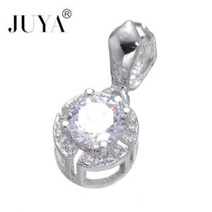 Fournitures Pour Bijoux De Haute Qualité De Luxe Cubique Zircone Pince Pincée Clip Bail Perles Conclusions Bail Connecteur Bale Pince Fermoirs