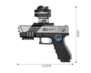 10pcs / unité étiquette laser 600FT avec chapeau + pistolet AR + pistolet balles à cristaux d'eau (transformable et combinable), pistolet en peluche ICE PHENIX eau,