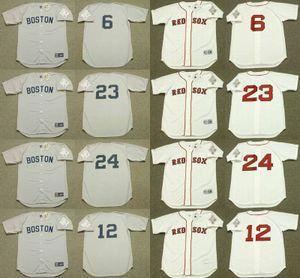 Boston 24 EVANS 12 DWIGHT Ellis Burks 6 Bill Buckner 23 DENNIS OIL CAN jersey de baseball BOYD cousu