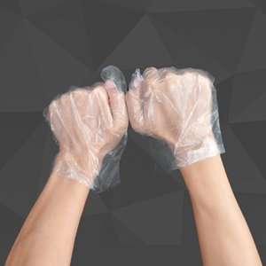Factory direct disposable PE gloves film labor protection plastic transparent gloves catering 100 dustproof and heatresistant