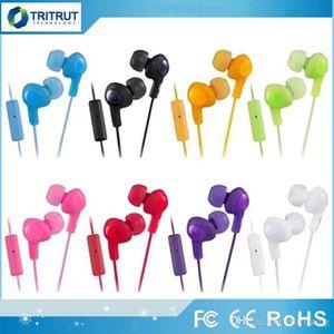 Gumy HA FR6 Gummy Headphone Earphoness 3.5mm in-Earphone HA-FR6 Gumy Plus with MIC للهاتف Android الذكي مع حزمة البيع بالتجزئة MQ200