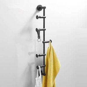 60cm 침실 화장실을 위한 금관 악기 피복 걸이 북유럽 벽 걸이 침실 저장 수건 걸이 까만 선반