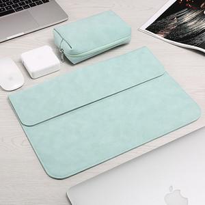 Laptop-Hülsen-Beutel für Macbook Air Retina 13 12 15 für neu Pro 13,3 Zoll Touch Bar PU-Leder-Kasten Laptop und Tablet-Abdeckung