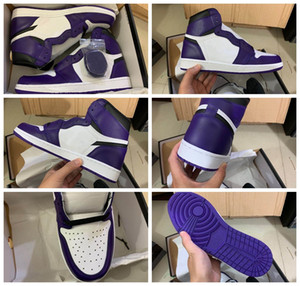 New Wholesale 1 I High Og Green Pine White Purple Court Men Basketball Shoes Designer 1s Sneakers Sports Outdoor Trainers Size 7-13