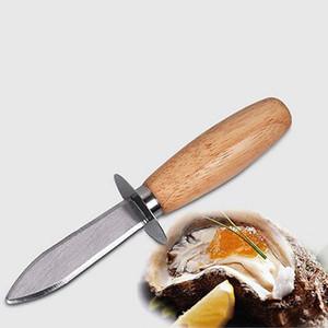 Нержавеющая сталь устричный нож с деревянной ручкой устричный ножик кухня морепродукты с острыми краями открывалка для инструментов инструмент гребешки нож для раковины BH2018 TQQ
