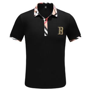 Verão New Medusa Polo Camisa Designer polo High street Itália Moda mens polos Casual com bordados applique Polos dos homens negros