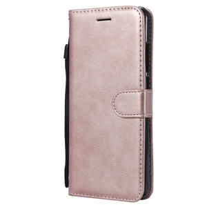 Für xiaomi redmi note 5 pro case flip abdeckung brieftasche stehen reine farbe pu leder handy taschen coque fundas