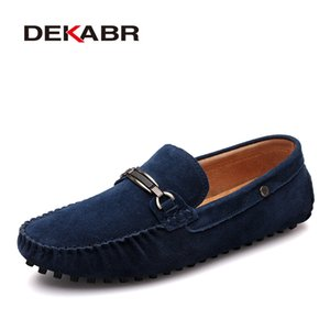 DEKABR Hommes Casual Mocassins En Daim Cuir Mocassins De Conduite En Daim Massif Mocassins De Conduite Slip on Men Casual Chaussures Lazy Shoes Taille 38 ~ 44
