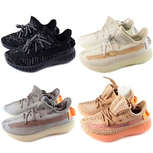 Adidas Yeezy 350 V2 2020 وصول جديد سلسلة من ردود الفعل احذية عادية للأطفال أسود أبيض الوردي موضة المدربين تشغيل الاطفال الرياضة احذية عادية
