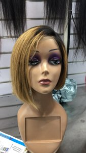 TOP 360 LACE FRONTA WIGS 100% HUMAN HAIR BRAZILIAN INDIAN BOB PERRUQUE OCEANE HAIR Natural Color T1B 99J T1B 30# T1B 27# T1B RED