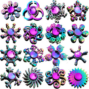 Atacado New Zinc Alloy Colorido Hot Wheels Gyro Mão Spinner Fidget Spinner Anti-Ansiedade Brinquedo para Spinners Foco Alivia o Estresse