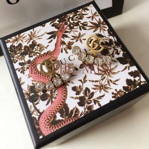 Brincos de latão Nova Rhinestone Brincos de luxo design de alta qualidade para Mulher Tendência Brincos Acessórios de Moda Fornecimento por atacado