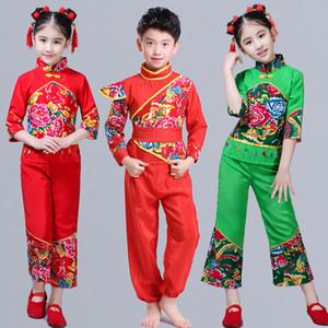 Chinese Folk Danza ragazze costume Yangko abiti moderni tamburo di ballo di usura di prestazione del ventilatore di ballo Outfits Capodanno Hanfu Suit