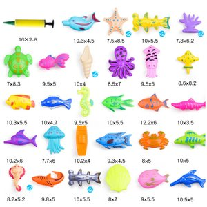 32pcs 47pcs lot magnetic fishing toy inflatable pool rod net set for kids child model play outdoor fishing game plastic fish toy
