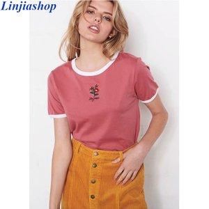 Women's T-Shirt Summer Purple Tshirt Girl 100% Cotton O Neck Regular Sleeve Slim Tops Women Bloggers Female Designer Vestidos Drop