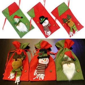 Ev Yılbaşı Şimdiki Paket Noel Baba Hediye Torba Christma Şeker Çanta Zarif Noel Süsleri