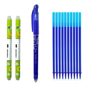 13pcs/set Erasable Pen Blue Black Ink 0.5mm Writing Pen Magic Gel Student Stationery Strong Quality