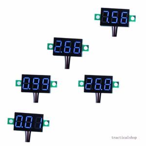 Pack of 5 Three-Wire Calibratable DC 0~30V Blue Digital Mini Voltmeter Gauge Tester Mount Car Motorcycle Battery Monitor Volt Voltage Meter