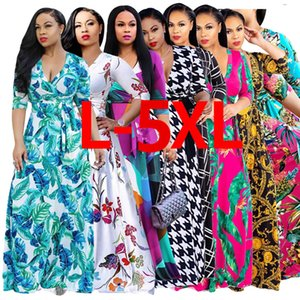 Vestidos casuais das mulheres Bohemian Vestidos Holiday beach vestidos bainha / coluna Cap 1/2 manga Andar de comprimento sexy roupas de verão plus size 453