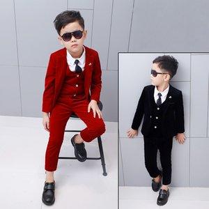 Children Suit Baby Boys Suits Outfit Kids Boy Blazer Boy Formal Suit For Weddings Boys Clothes Set Jackets+Vest+Pants 3pcs 2-12Y