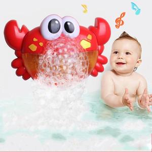 Caranguejos de plástico Bolha Brinquedo Do Banho Do Bebê Banheira de Natação Soap Music Machine Novidade Itens Engraçado banheiro Criador de Bolhas Piscina Brinquedos