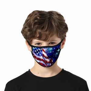 USA Independence Day Maske für die Dame Cubrebocas Farbe Rosa Masken Waschbar Polyester Usa Unabhängigkeit Authentic Hotclipper