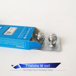 Authentic Freemax TX Malha Bobina Fireluke M Tea Fibra de Algodão TX1 TX2 TX3 TX4 TNX2 Núcleo de Fireluke 2 Tanque Twister 80W Kit